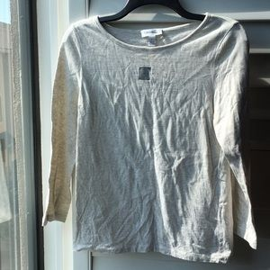 Heather gray cream soft cotton Calvin Klein top